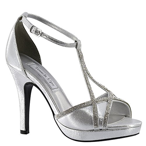 Sandal Platform Women's Harlow Strap Touch Ups T Shimmer Silver F4YHqFpw