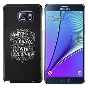 TECHCASE---Cubierta de la caja de protección para la piel dura ** Samsung Galaxy Note 5 ** --creen posible el amor dios gris cristiana