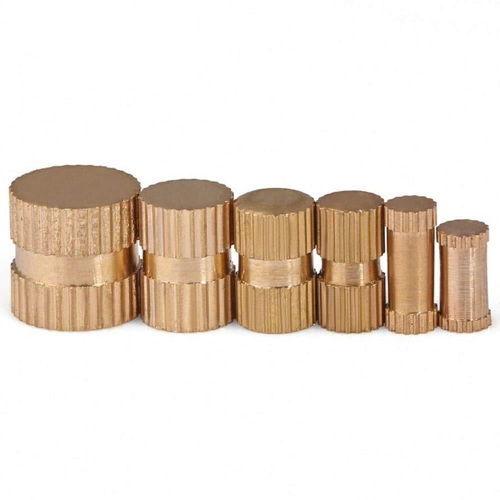 10Pcs, M5710mm M3 M4 M5 M6 M8 Brass Knurled Nuts Thumb Nuts Insert Nuts Blind-Hole Knurled Nuts