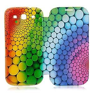CL - Dots Ronda Funda de piel para Samsung Galaxy S3 I9300