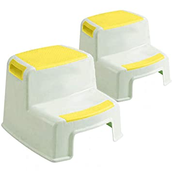Pleasing 2 Pack Dual Height Step Stool For Kidsanti Slip Step Toddlers Stool For Potty Training Use In Pabps2019 Chair Design Images Pabps2019Com