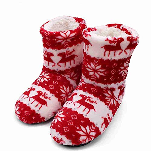 Filles Contton Chaud Douces Noël nbsp;d'hiver Femme Rose Nsbm Red Maison D'intérieur Chaussures Chaussons Pantufa Couleurs Pantoufles waY14