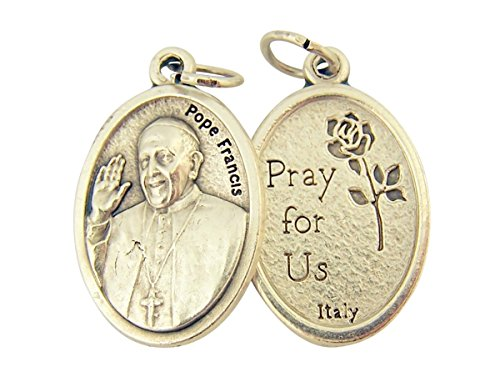 Silver Toned Base Pope Francis Medal, 1 Inch, Set of 2