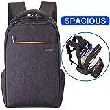 Kuprine Lightweight Laptop Backpack for Women Men, Rainproof Slim Business Computer Laptop Rucksack Travel Bag Up to 15 inch Laptop Notebook, Anti Theft