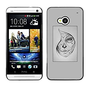 SKCASE Center / Funda Carcasa - Halloween del tatuaje;;;;;;;; - HTC One M7