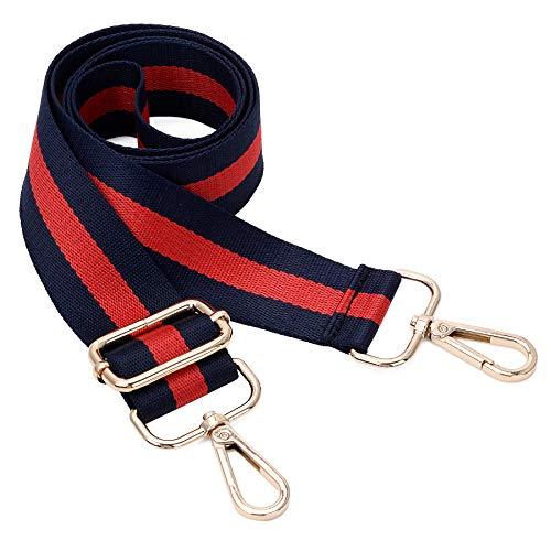 - Wide Shoulder Strap Adjustable Replacement Belt Crossbody Canvas Bag Handbag (Blue)
