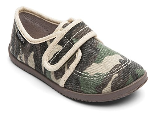 Bundgaard Kids Haff Canvas Slipper Camo Camo Green