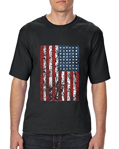 Halloween Costumes Burlington (Xekia United States of America Flag Vintage US Flag Unisex T-Shirt Tall Sizes 3X-Large Tall Black)