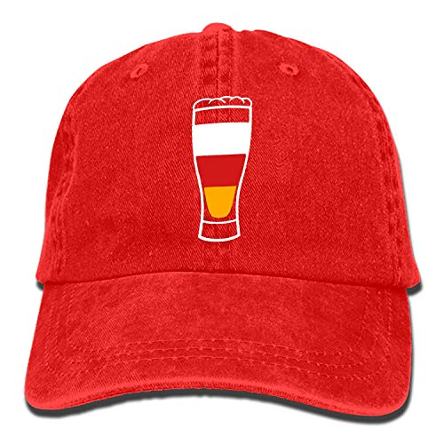 Beer Glass Alcohol Drink Thirst Party Celebrate Classic Washed Cotton Baseball Cap Hip Hop Adjustable Cowboy -