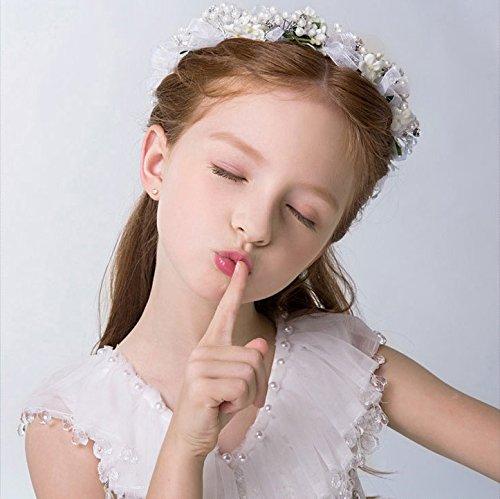 KMALL Bianco coroncina fiori capelli regolabile fiore per sposa damigella 02c6f3bc89e7