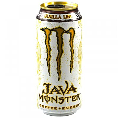 Java Monster Coffee + Energy Drink, Vanilla Light, 15-Ounce Cans (Pack of 6)