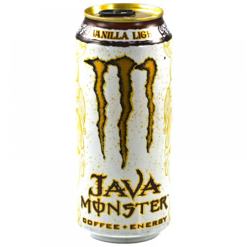 Java Monster Coffee + Energy Drink, Vanilla Light, 15-Ounce Cans (Pack of (Mega Pack Vanilla Flavor)