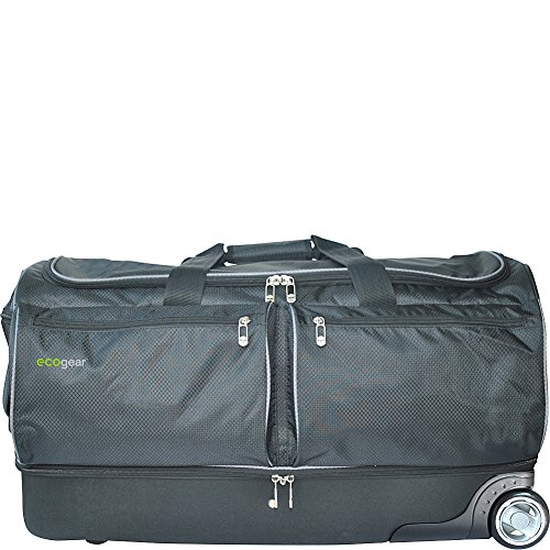 Ecogear 28in Wheeled Duffel with Garment Rack, Black (28 Inch Wheeled Suitcase)