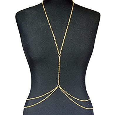 bb7cd99eed9 Women Necklace Gold Body Belly Waist Chain Body Jewelry: Amazon.ae ...