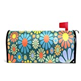 YQINING Mailbox Cover Magnetic Customized Flower Power Party Two Sizes Suitable for US Mailbox