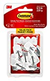 Command 17067C-VP Wire Hooks Value Pack, Small, White, 9 Hooks 12 Small Strips