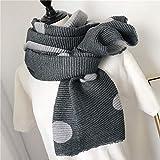 Gray Women's Warm Winter Cotton Linen Wrinkle Scarf Wraps Shawl 200Cm65Cm