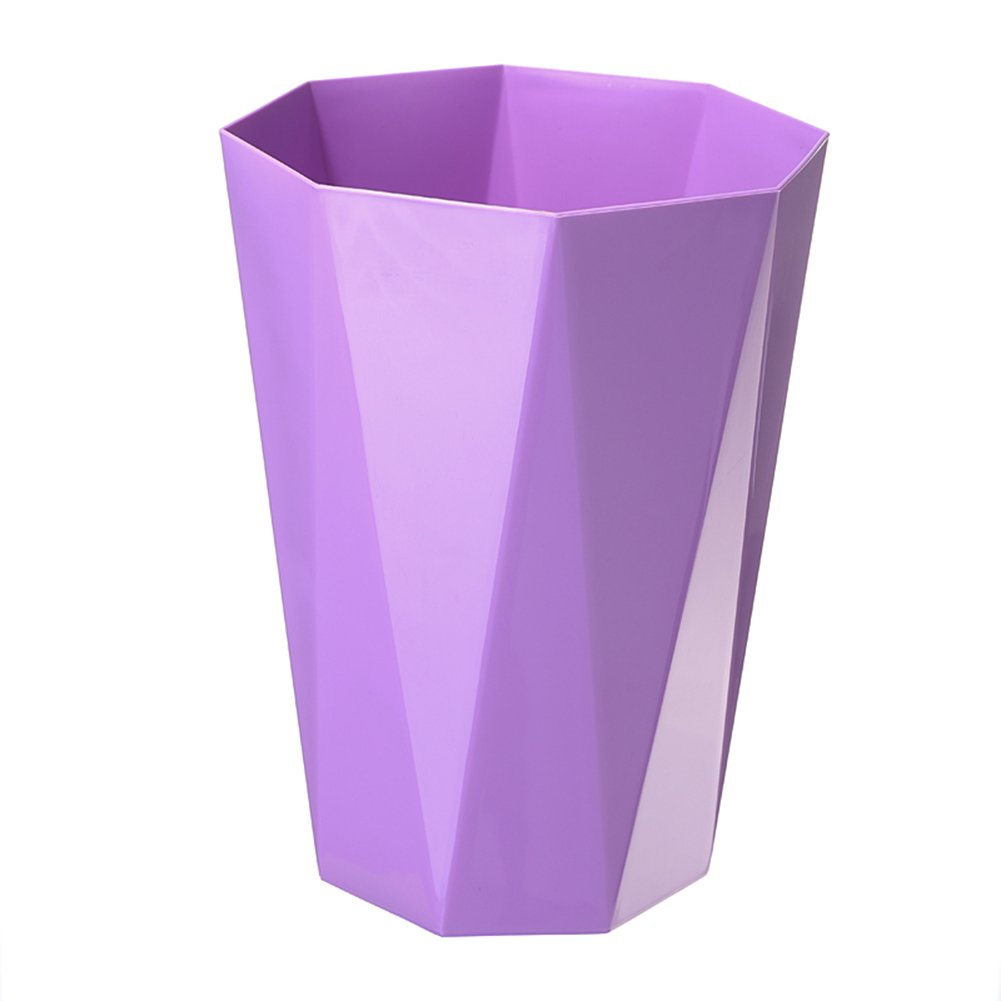 2.7 Gallon Black Happiness Decoration Kitchen//Bathroom//Bedroom//Parlor//Office Plastic Trash Can 10 Liter