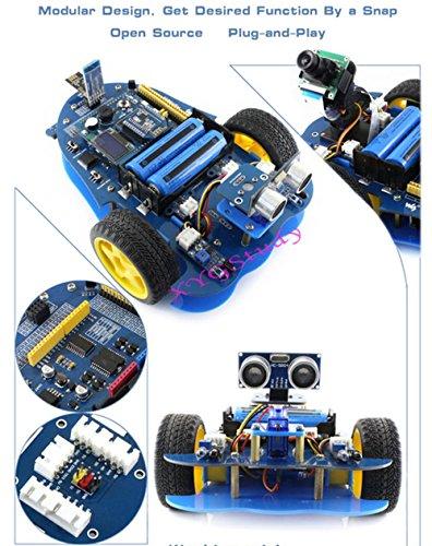 NEW AlphaBot Robot Building Starter Kit Accessory Pack for Raspberry Pi 3 Model B with Camera Sensors (No Pi) @XYGStudy