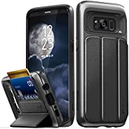 Galaxy S8 Wallet Case, Vena vCommute Military Grade Drop Protection Flip Leather Cover Card Slot Holder with K