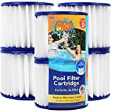 Greenco GRC1098 Type D Replacement Pool filter Cartridges with Build-in Chlorinator, Set of 6