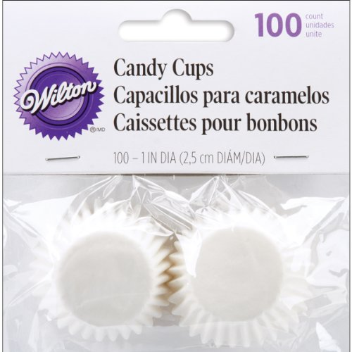 """Brand New Candy Cups 1"""""""" 100/Pkg-White Glassine-Coated Brand New"""