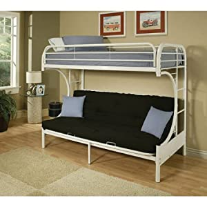 Acme 02091-SI Eclipse Twin/Full Bunk Bed (White)