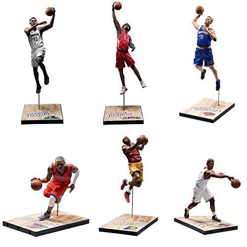 NBA SportsPicks Series 30 Dwyane Wade, Ben Simmons, Damian Lillard, Brandon Ingram ,Derrick Rose, Kevin Durant Figures Set of 6