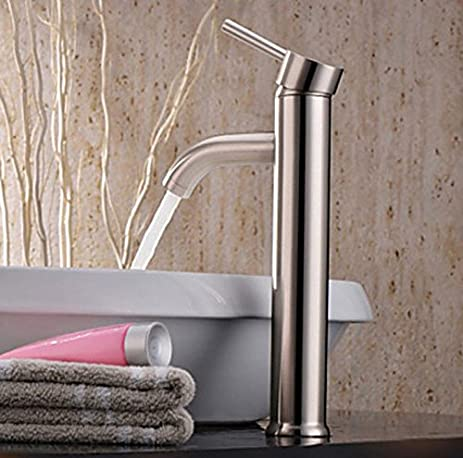 LINA@ European Modern Copper Hot And Cold Drawing High Basin Porcelain Sinks  Faucets