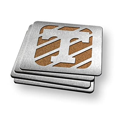 NCAA Tennessee Volunteers Boasters, Heavy Duty Stainless Steel Coasters, Set of 4
