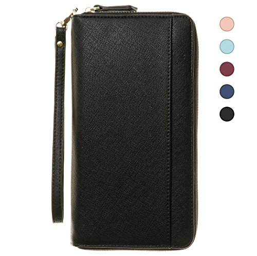 Travel Document Organizer & RFID Passport Wallet Case, Family Passport Holder Id ()