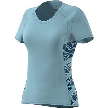 venta de descuento para toda la familia venta más caliente adidas Cru tee Parley Camiseta, Mujer, Gris (gricen), XL ...