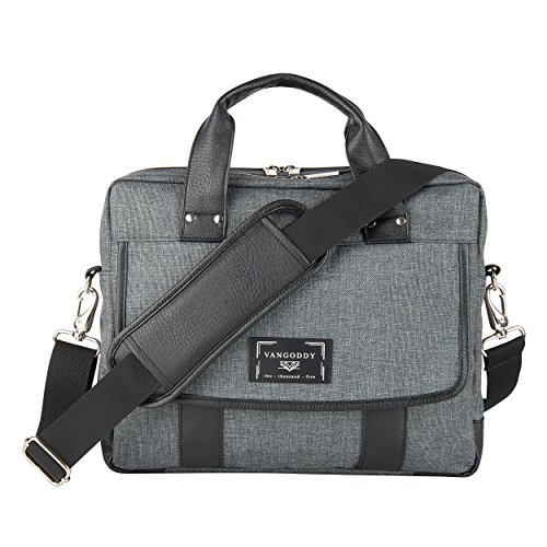 Chrono Protective Laptop/Tablet Shoulder Messenger Bag Carrying Case w/Handle For 13.3'' - 14'' Tablets, 2in1, Ultrabooks Netbooks by Vangoddy (Image #9)