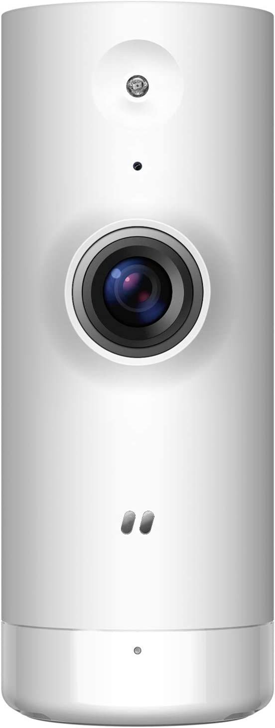 D-Link Wi-Fi Security Camera Mini Indoor w/HD Day & Night Vision, Motion & Sound Detection, Compatible with Alexa, DCS-8000LH-US (Renewed)