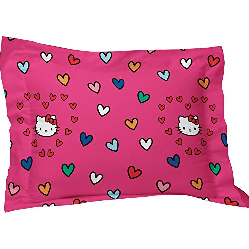 Hello Kitty Free Time Standard Sham PINK -