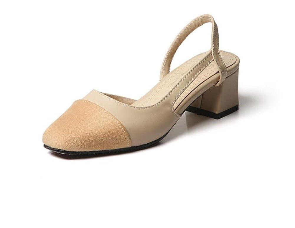 WEIQI-Damen Sommer Sandalen Freizeitschuhe Arbeit Shopping Party Lazy Feet 5cm 33-41