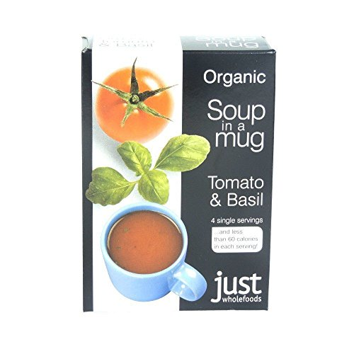 Basil Soup Mix - Just Wholefoods Organic Instant Tomato And Basil Soup Mix 4x17g (Pack of 2)