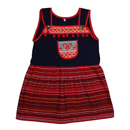ARTIIDCO Beautiful Woven Cotton and Hand Embroidered Ethnic Thai Girls Dress (4)