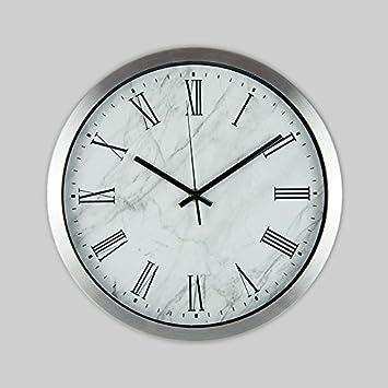 wall clock Ping0fm Ping0fm Reloj de Pared de Aluminio Dibujo Silencio Atmósfera Minimalista Moderno Grandes Relojes de Pared Reloj Elegante Reloj Relojes de ...