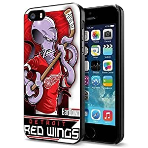 NHL Detroit Red Wings , Cool iPhone ipod touch4 Smartphone Case Cover Collector iphone Black