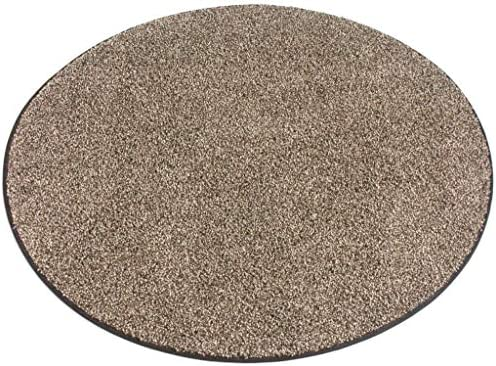 Round Chocolate Chip Brown and Cream Area Rugs 8 Round
