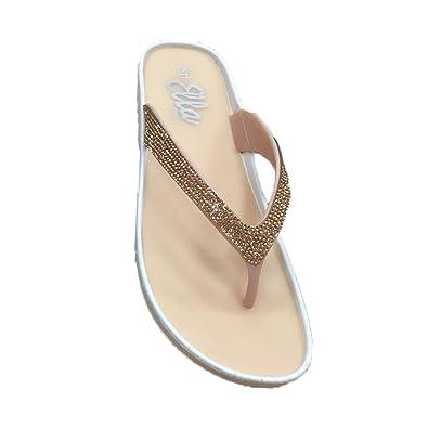 4667e6835 Ella Piper Sparkle Diamonte Flip Flops Grey Pink Black - ell-Pip-MXD - UK 6,  Pink: Amazon.co.uk: Shoes & Bags