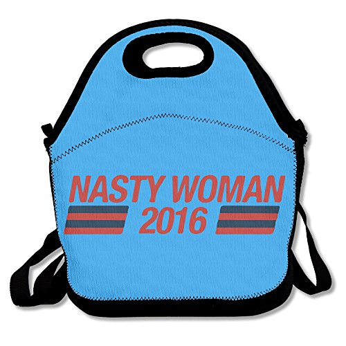Multifunctional Lunch Bag, Cute Hillary Nasty Woman Lunch Tote Bag/ Backpack With Zipper Closure For Kids & Adults]()