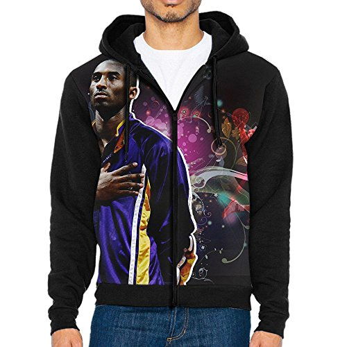 Price comparison product image K0beBiiyant Mens Casual 984-KobeBryant Active Jersey Slim Fit Hoodie Zip-Up