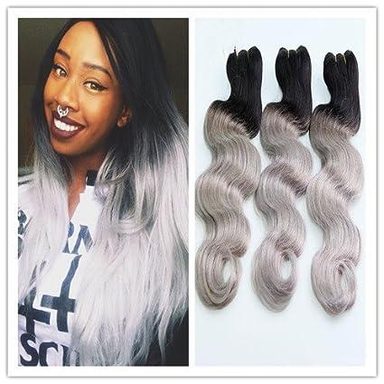 Hair Weave Sexyqueenhair colore  nero e grigio 641c0b09145c