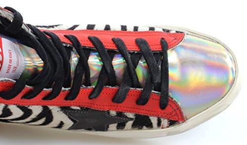 Damen Oca Doro Schuhe Sneakers Francy G27d120u8 Pony Colori Partito Italia Nuova