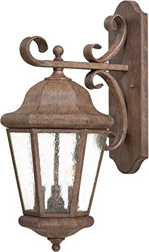 - Minka Lavery Outdoor Wall Light 8613-A61 Taylor Court Exterior Wall Lantern, 180 Watts, Rust