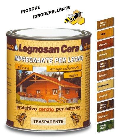 Veleca Legnosan Cera, Impregnante per Legno, Noce Chiaro: Amazon.it ...