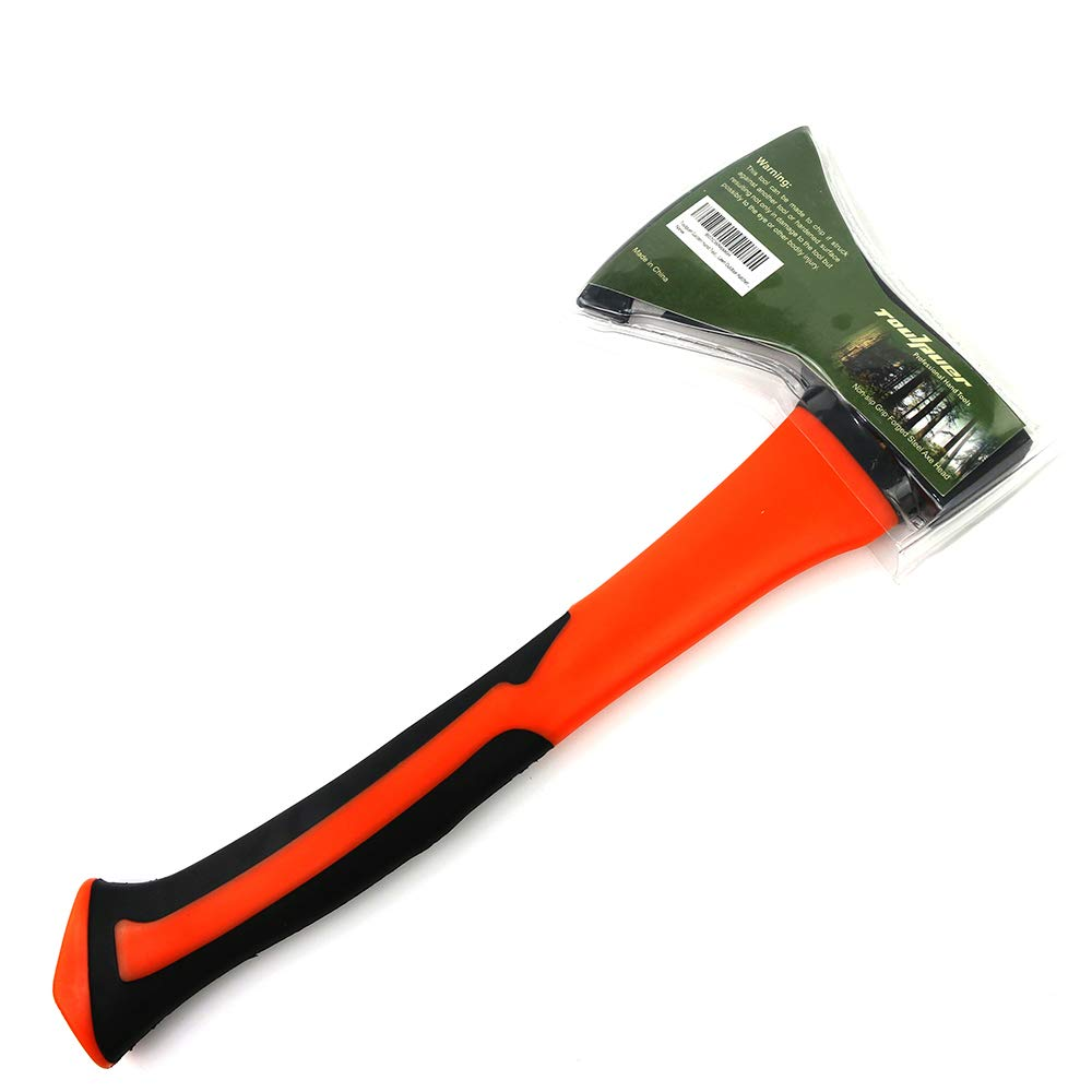 Toulpuer Sharp-Edged Steel Soft Non-Slip Grip Handle Axes Garden Hand Tools Axes Camping Lawn Outdoor Hatchet 12.5 Inch