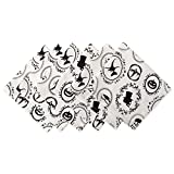 DII Oversized 20x20'' Cotton Napkin, Black & White Halloween Portrait - Perfect for Halloween, Dinner Parties and Scary Movie Nights